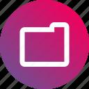 directory, folder, gradient icon
