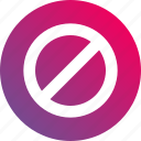 don't, forbidden, gradient, keep, no, not allowed icon