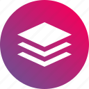 gradient, layer, layers, levels, tier icon