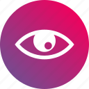 eye, gradient, look, see, stare, watch icon