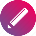 edit, gradient, pen, pencil icon