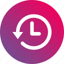 clock, events, gradient, history, log, record icon