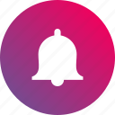 alert, bell, campane, gradient, handbell, notification icon