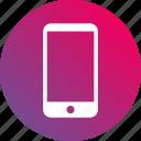 cellphone, gradient, mobile, phone, smartphone, telephone icon