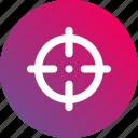 aim, gradient, shoot, shot, sniper, target icon