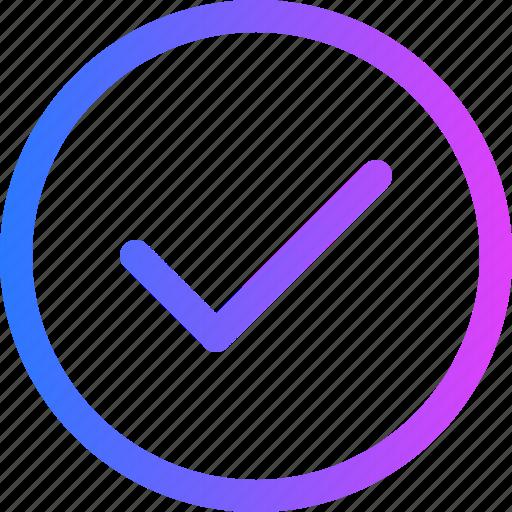 check, checkmark, right, success, tick icon