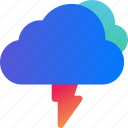 cloud, data, storage, strom, thunder, weather icon
