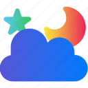 cloud, moon, night, storage, weather icon