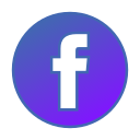 circle, facebook, gradient, gradient icon, icon, social media icon