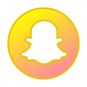 circle, gradient, gradient icon, icon, snapchat, social media icon