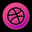 circle, dribbble, gradient, gradient icon, icon, social media icon