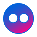 circle, flickr, gradient, gradient icon, icon, social media icon