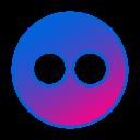 circle, flickr, gradient, gradient icon, social media icon