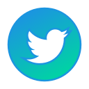 circle, gradient, gradient icon, icon, social media, twitter icon