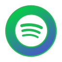 circle, gradient, gradient icon, icon, social media, spotify icon