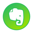 circle, evernote, gradient, gradient icon, icon, social media icon