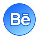 social media, gradient, behance, gradient icon, circle icon