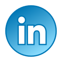 circle, gradient, gradient icon, icon, linkedin, social media icon