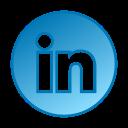 circle, gradient, gradient icon, linkedin, social media