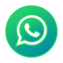 circle, gradient, gradient icon, icon, social media, whatsapp icon