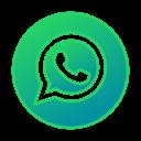 circle, gradient, gradient icon, icon, social media, whatsapp icon