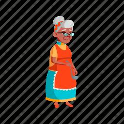 old, elderly, lady, cooking, kitchen, grandmother, grandma