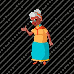 elderly, senior, grandmother, hispanic, lady, screaming, husband