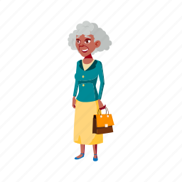 old, elegance, woman, style, senior, handbag, mall