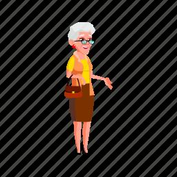 mature, happy, grandmother, age, senior, lady, talking