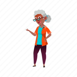 senior, elderly, grandmother, annoyed, woman, old, african