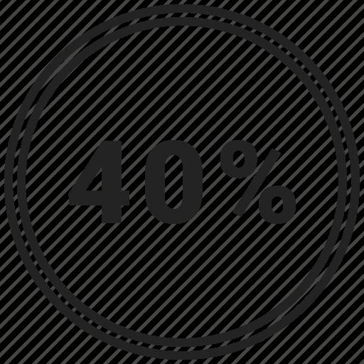 chart, circle, circle chart, forty, pie chart icon