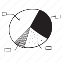 analytic, chart, graph, status