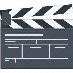 action, flat design, media, movie, video icon