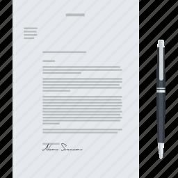 brief, business, design, document, flat design, stationary icon