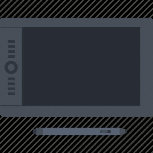 design, device, digital, flat design, graphic, illustration, tablet icon