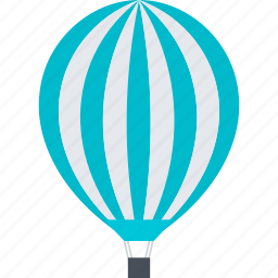 balloon, blimp, discover, explore, flat design, travel icon