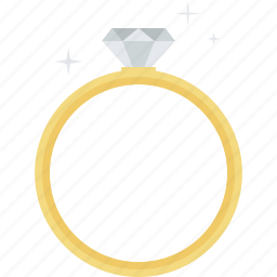 diamond, excellence, flat design, jewelry, ring icon