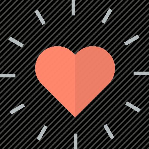 favorite, flat design, heart icon