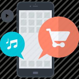 apps, flat design, internet, mobile, online, service, social media icon