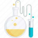 development, flat design, laboratory, test icon