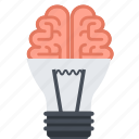 brainstorming, creativity, design, flat design, idea, thinking icon