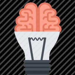 brainstorming, creativity, design, flat design, idea, thinking icon