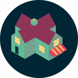 architecture, building, home, hotel, office, property, shop icon