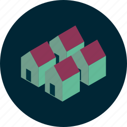 architecture, building, city, estate, home, house, property icon