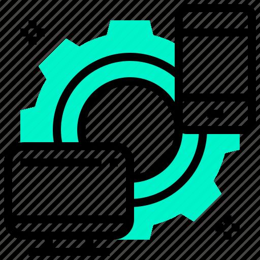 computer, design, responsive, smartphone, web icon
