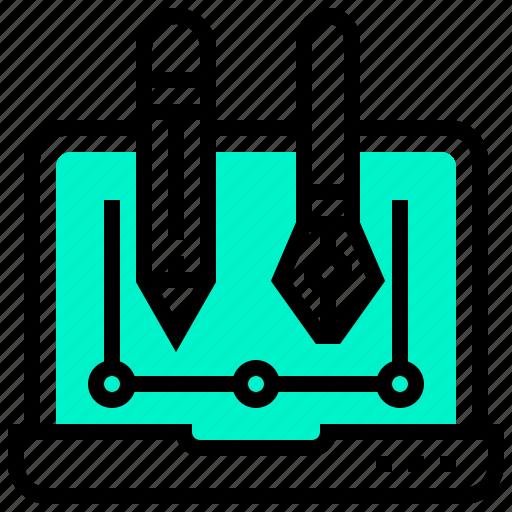 art, computer, graphic, illustration icon