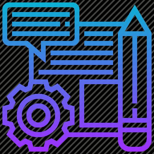 brief, creative, document, framework, project icon