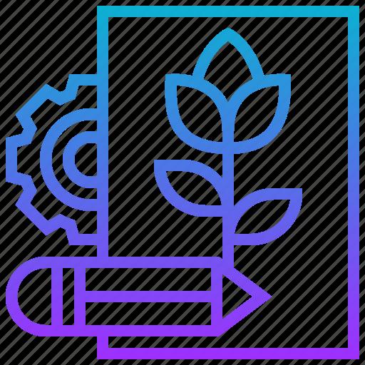 design, drawing, identity, plant, sketch icon