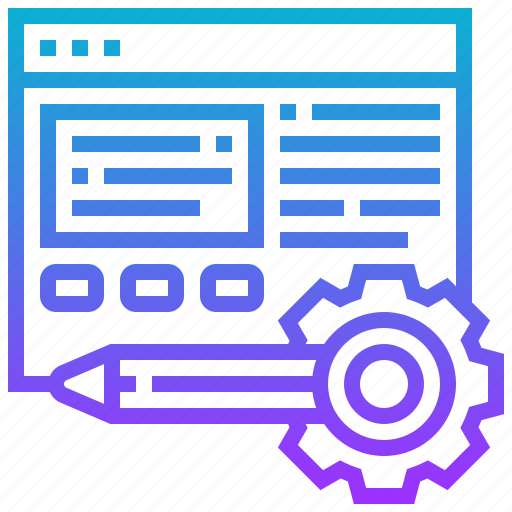 development, internet, maintaining, process, website icon
