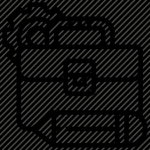 briefcase, collection, portfolio, profile, work icon